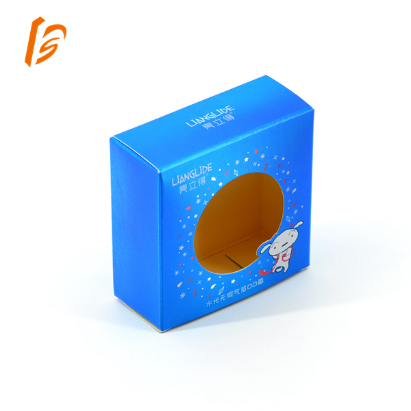 Cosmetic packaging box with window