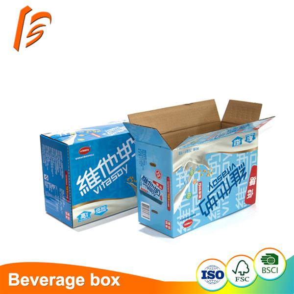 Manufacturer customized good quality beverage packaging box