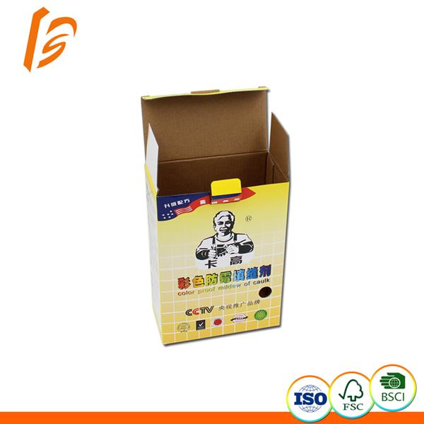 Color proof mildew of caulk corrugated cardboard folding box