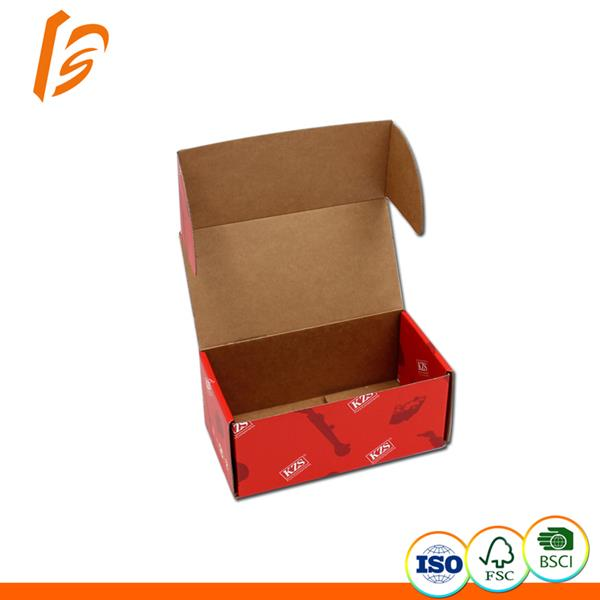 Strong hard corrugated flap lock top box without gluing