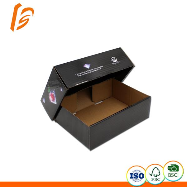 Glossy lamination fruit packaging Collapsible Tray And Lid