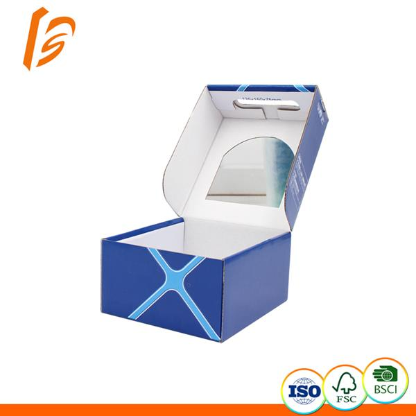Clamshell style Children shoes packaging box with PVC window