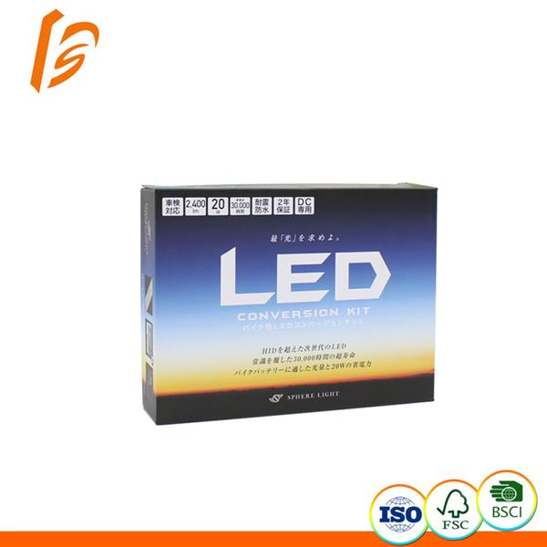 Suppliers E flute corrugated printing led bulb packaging