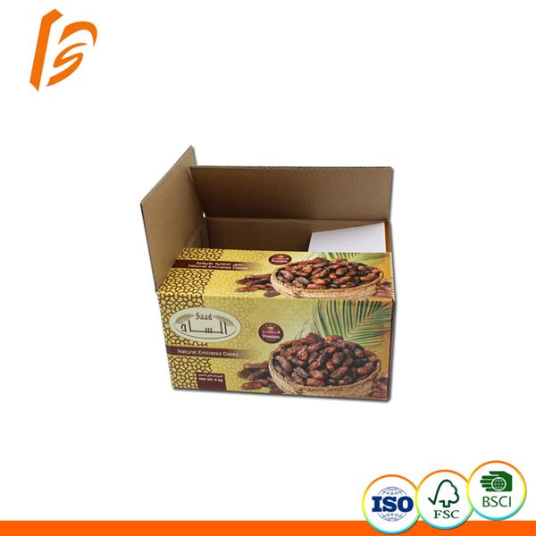 Natural emirates date Corrugated Slotted Container