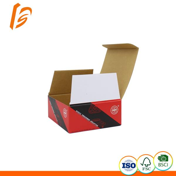Flap small auto part packaging corrugated box styles customized order