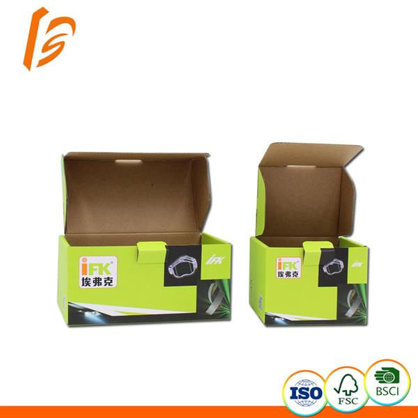 Brown corrugated cardboard flap style electronic packaging