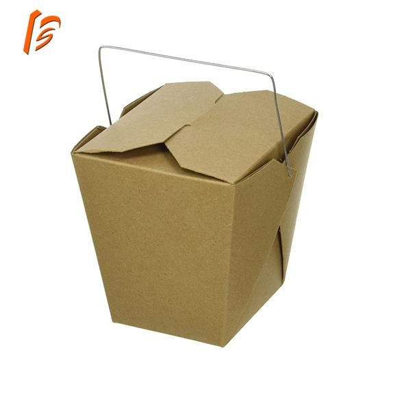 chinese takeout food container paper box with handle