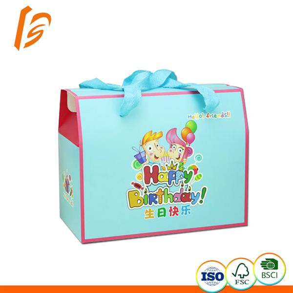Paper Birthday Gift Box For Kids